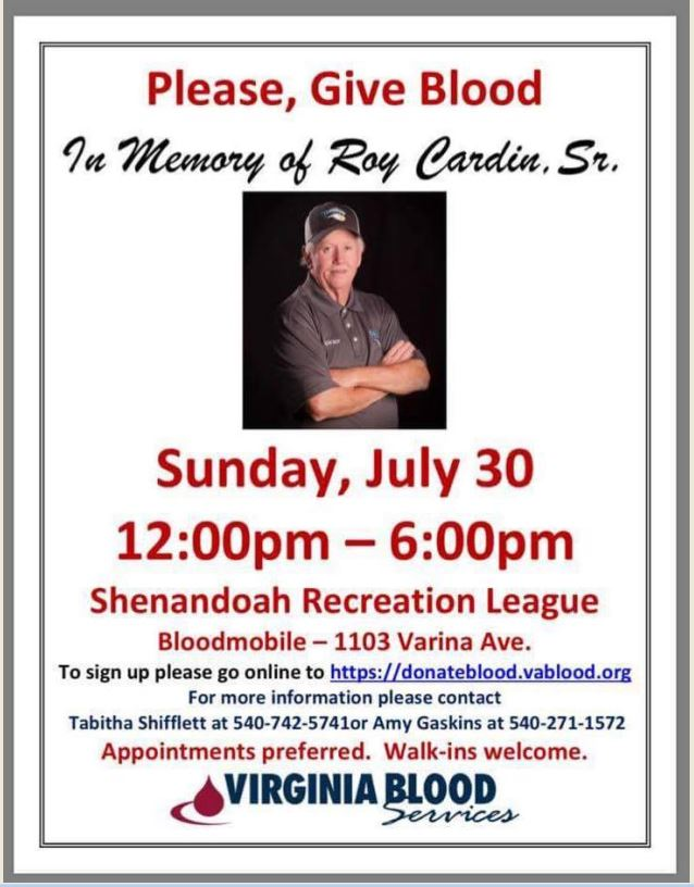 Blood Drive in Memory of Roy Cardin