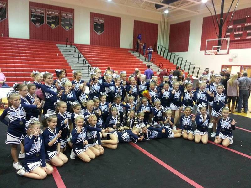 Page County cheerleaders win Cheer competition 2016