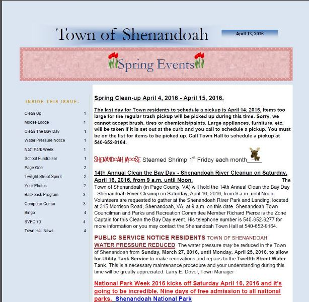 Town News Letter