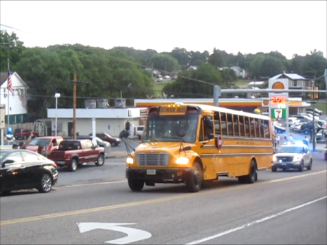 PCHS Girls Softball State Champions Escorted thur Town 2015